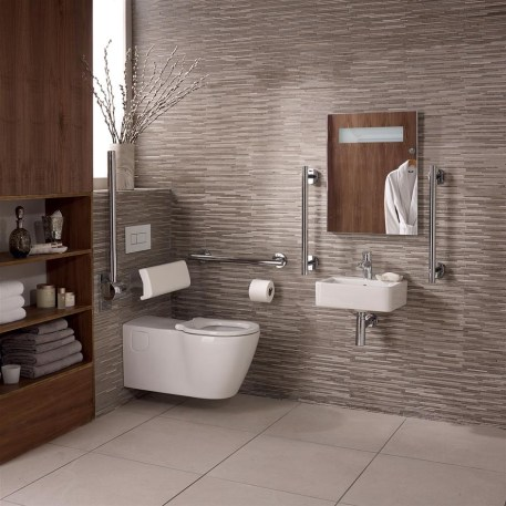 Ideal Standard Concept Freedom Doc M Pack with Wall Hung Disabled Toilet and 400mm Basin White
