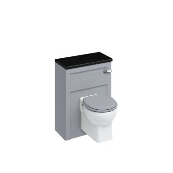 Burlington Classic Back To Wall Toilet Unit & Cistern Grey - 600mm