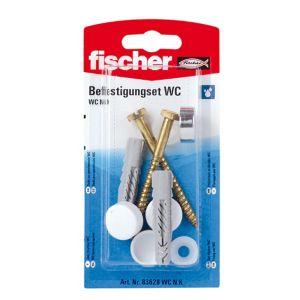 Fischer Toilet Fixing cap kit (L)70mm Pack of 2