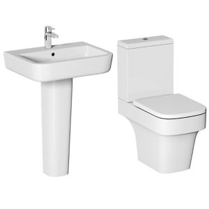Cooke & Lewis Caldaro Close-coupled Toilet & full pedestal basin