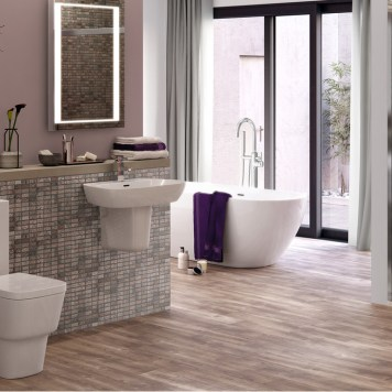 Luxury Turin Suite complete with C/C WC and 1TH Semi Pedestal Basin