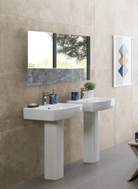 Naples Complete Suite (C/C W/C, Steel Single End 2TH Bath Tub and 1TH Full Pedestal Basin)