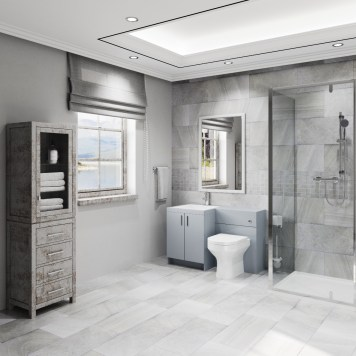 The Trinity Modern 6 Piece Shower Suite