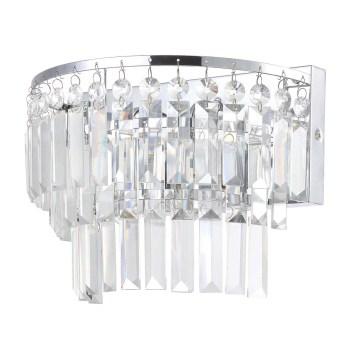 Vasca 2 Light Crystal Bar Bathroom Wall Light - Chrome