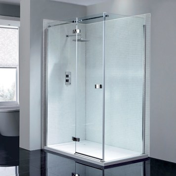 April Prestige Frameless Hinge Shower Enclosure - Left Handed
