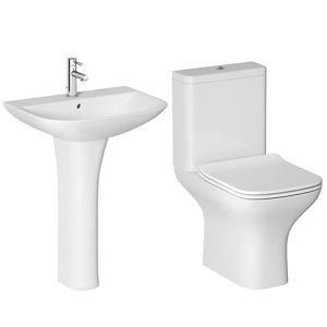 Cooke & Lewis Lanzo Close-coupled Toilet & full pedestal basin