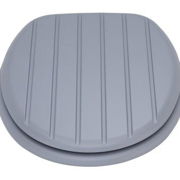 Argos Home Tongue and Groove Style Toilet Seat - Grey