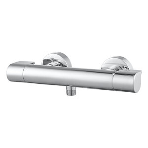 GoodHome Cavally Chrome effect Thermostatic Shower Mixer Tap