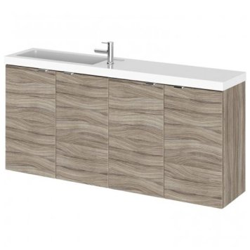 Fuji 120cm Wall Hung Vanity Unit With Basin In Driftwood