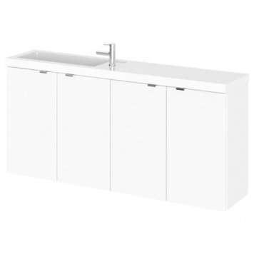 Fuji 120cm Wall Hung Vanity Unit With Basin In Gloss White