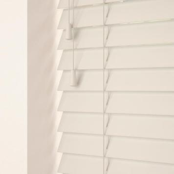 35mm Primary Wood Venetian Blinds Old White