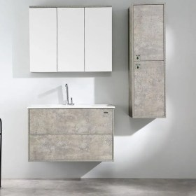 900mm wall hung vanity - rock cemento