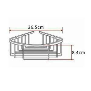 RAK Single Deep Corner Basket – 175mm x 175mm x 100mm – Chrome