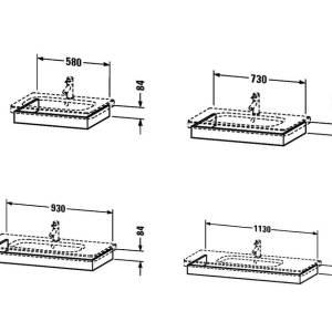 Duravit DuraStyle Washbasin Trim – 1130mm Wide – Basalt Matt