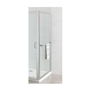 Eastbrook Corniche easy clean side panel with towel rail – 100mm Wide – Silver