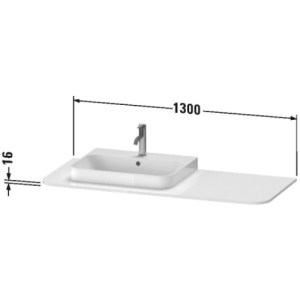 Duravit Happy D.2 Plus Console For Vanity Units – 1300mm X 550mm – Brushed Walnut