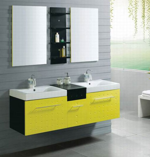 Yellow Bathroom Vanity