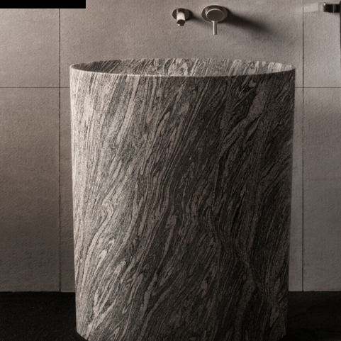30 stone forest infinity pedestal sink avaiable in 3 finishes bathroom vanities and more