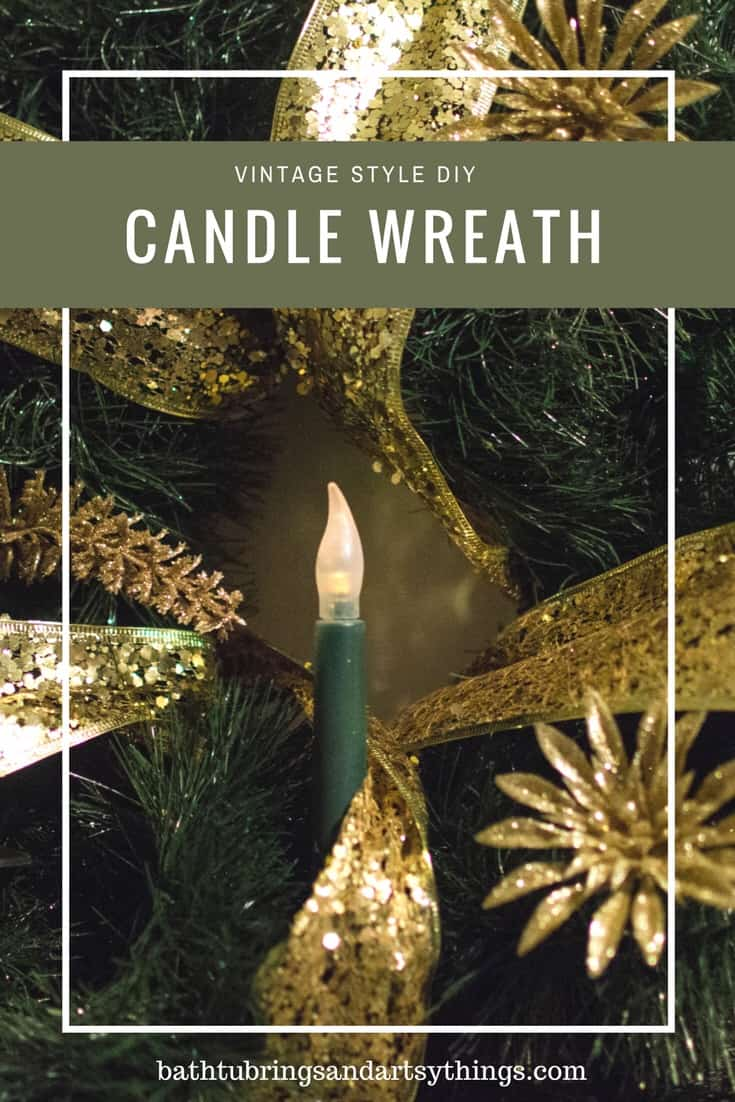 Vintage style Christmas candle wreath