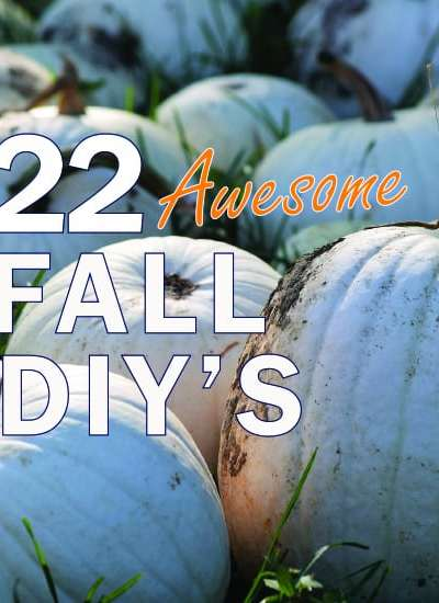 Amazing ideas for DIY Fall decor. Decorate for autumn in no time with these 22 ideas.
