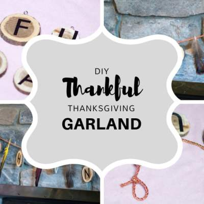 Create a DIY Thanksgiving Garland that will Please the Entire Family