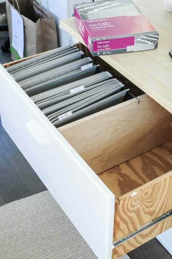 How to get a file cabinet organized