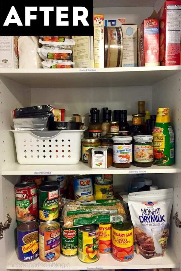 How to organize your kitchen pantry after picture