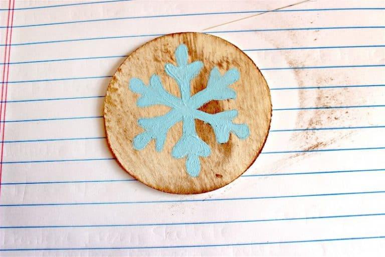 DIY wooden winter solstice ornament