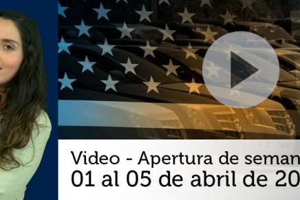 Video semanal: Del 01 al 05 de abril de 2019