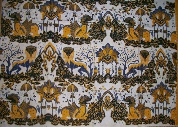 gambar batik cirebon singa payung