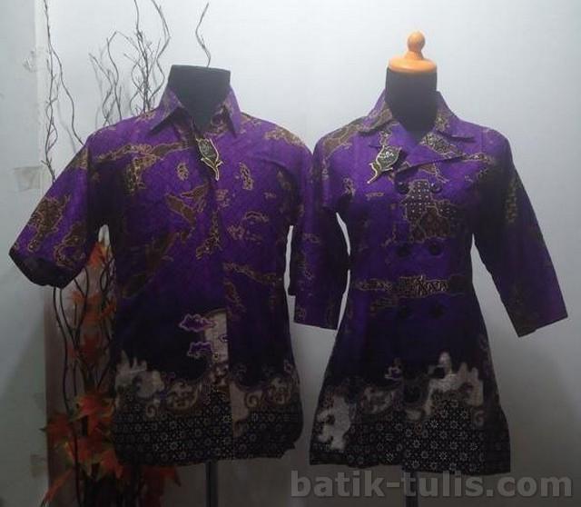 batik sarimbit blouse ungu