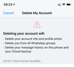 Deleting my WhatsApp account