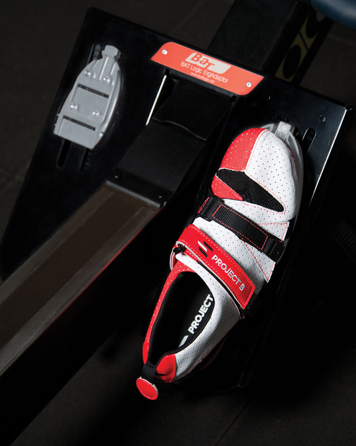 The ErgAdaptor with Project B shoe