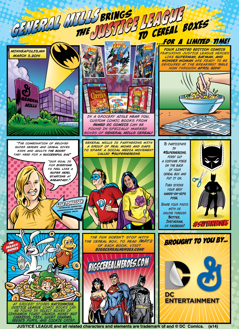 Free DC Comics available now in a cereal box near you