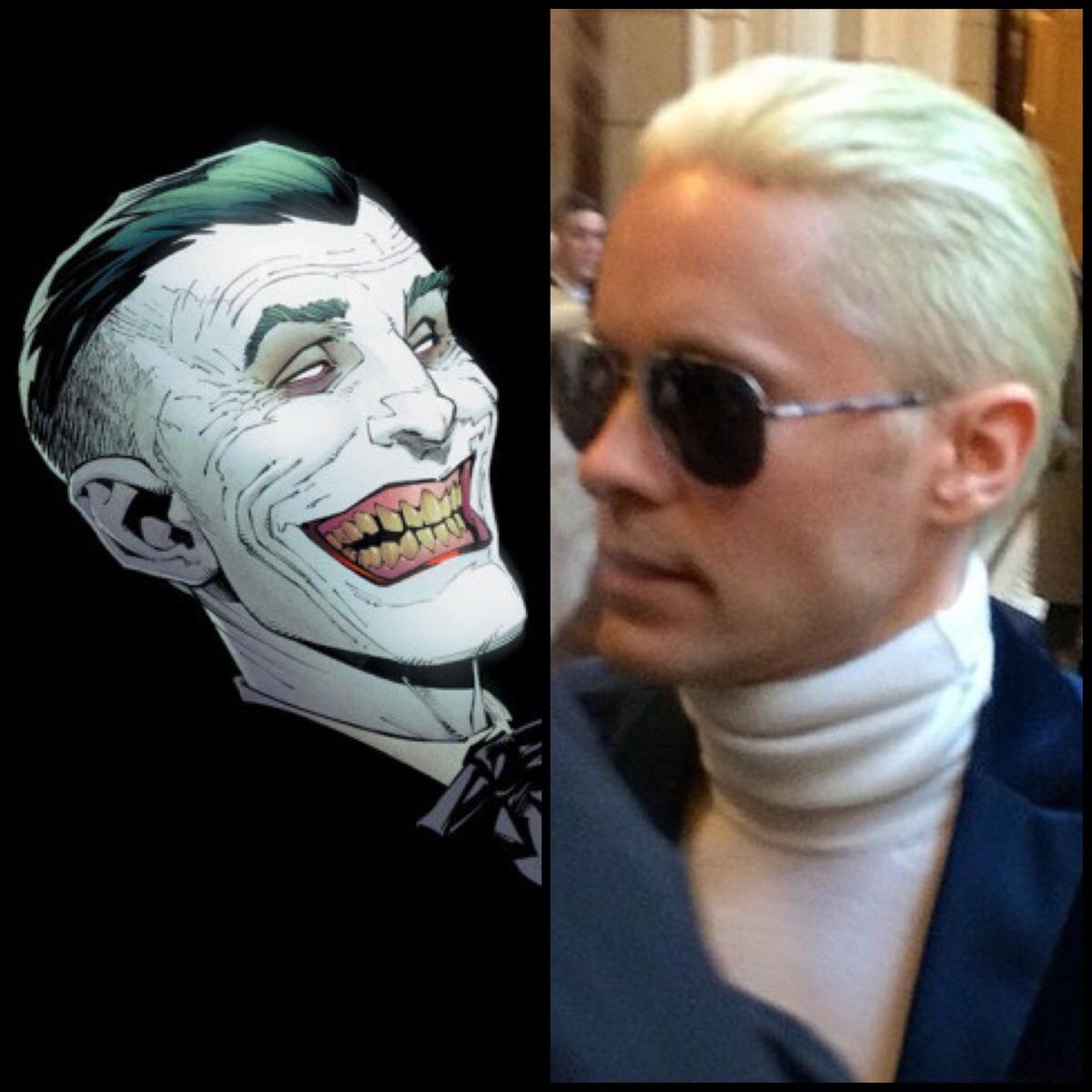 Jared Leto\u0027s Joker haircut revealed and it\u0027s bleach