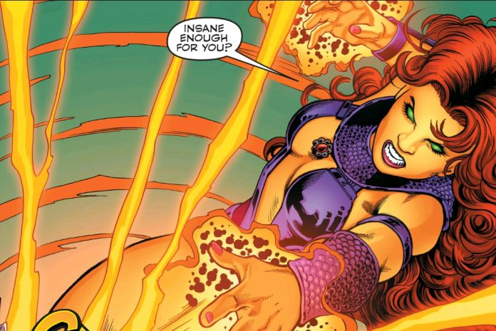 When provoked, Starfire can really let loose!