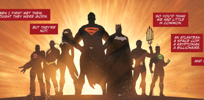 Reminiscent of the intro to the Justice League animated series