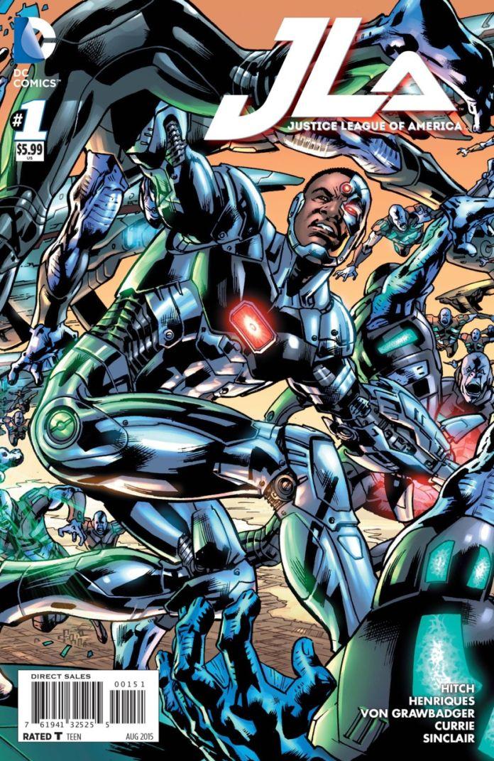 JLA 1 by Brian Hitch (Cyborg)