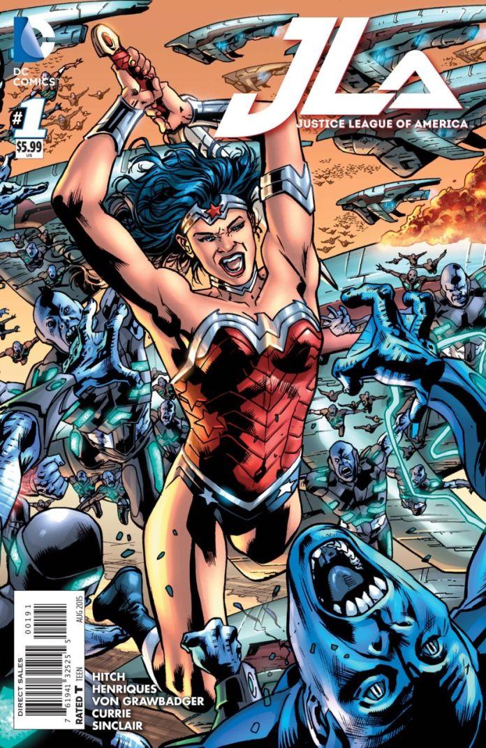 JLA 1 by Brian Hitch (Wonder Woman)