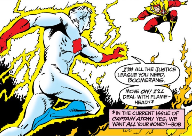 And Captain Atom and Firestorm appear for like two and a half pages before disappearing, because crossover events.