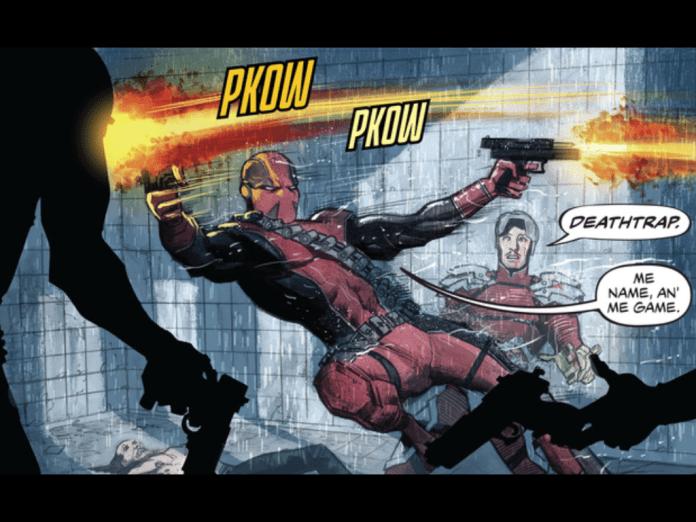 Hey, look! It's Deadpool! I mean, Deathtrap!