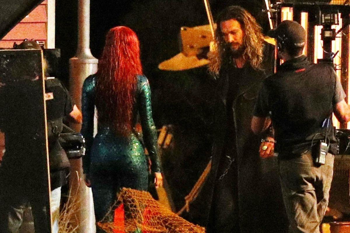 New Aquaman Set Photos Show Amber Heard And Jason Momoa -9867