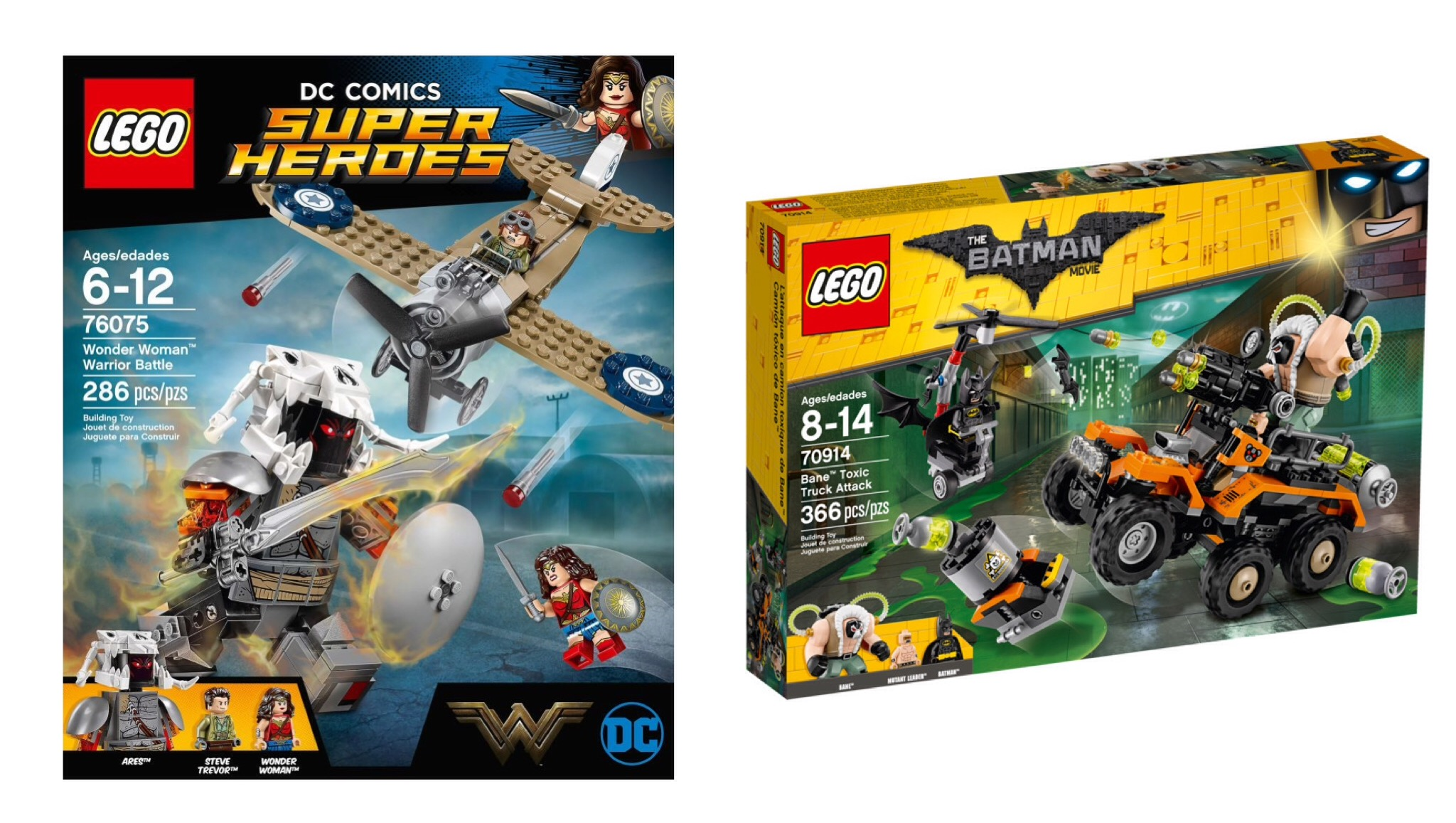 LEGO Wonder Woman Warrior Battle and Bane Toxic Truck Attack review ...