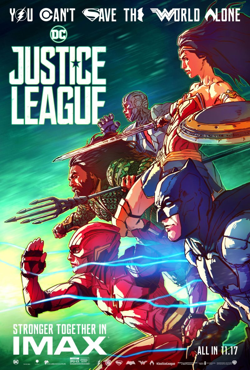'Justice League' IMAX poster looks like a comic book cover ...