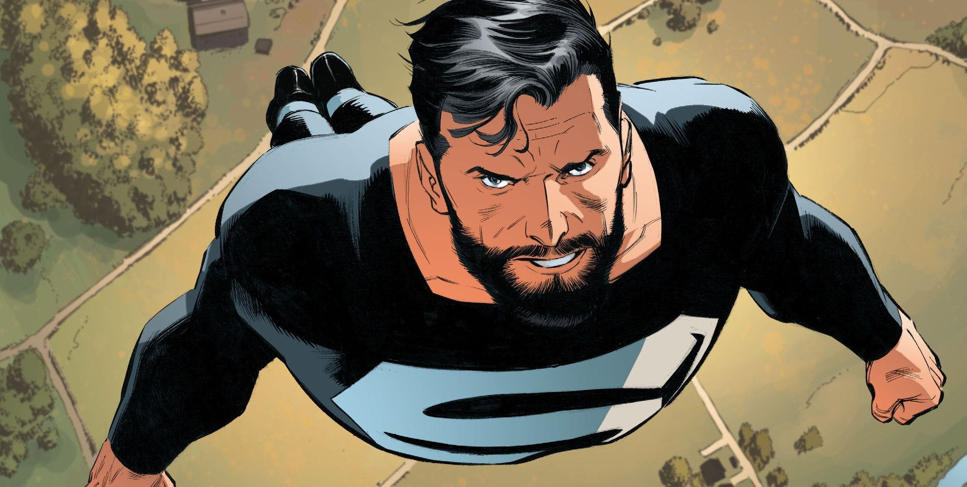 Superman-beard-and-black-suit