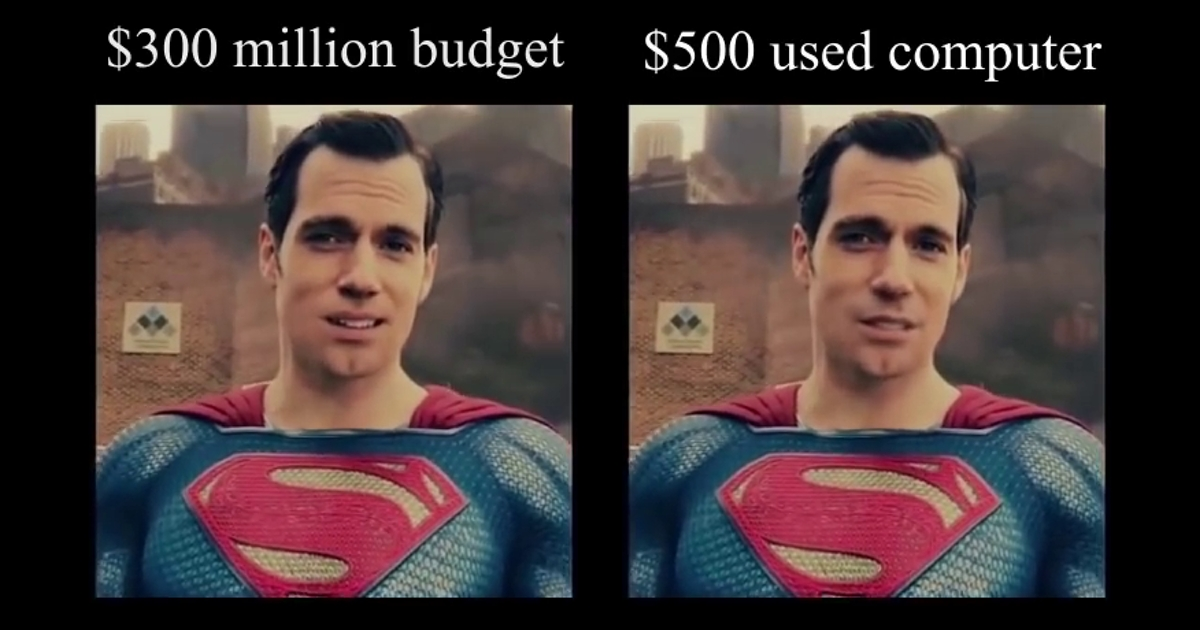 A 500 Computer With Free Software Shaved Henry Cavill -8744