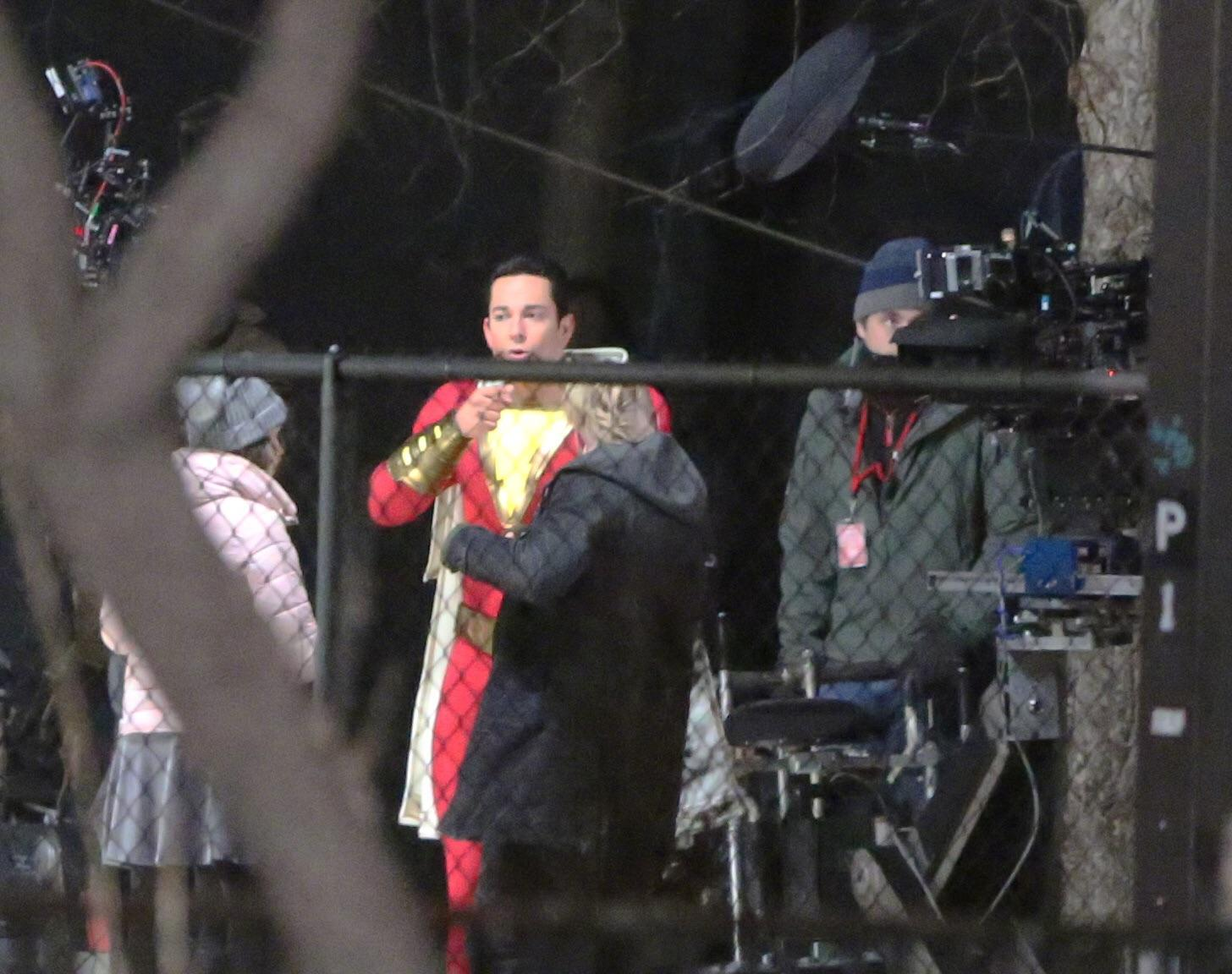 New 'Shazam' set photo reveals the front of Zachary Levi's costume