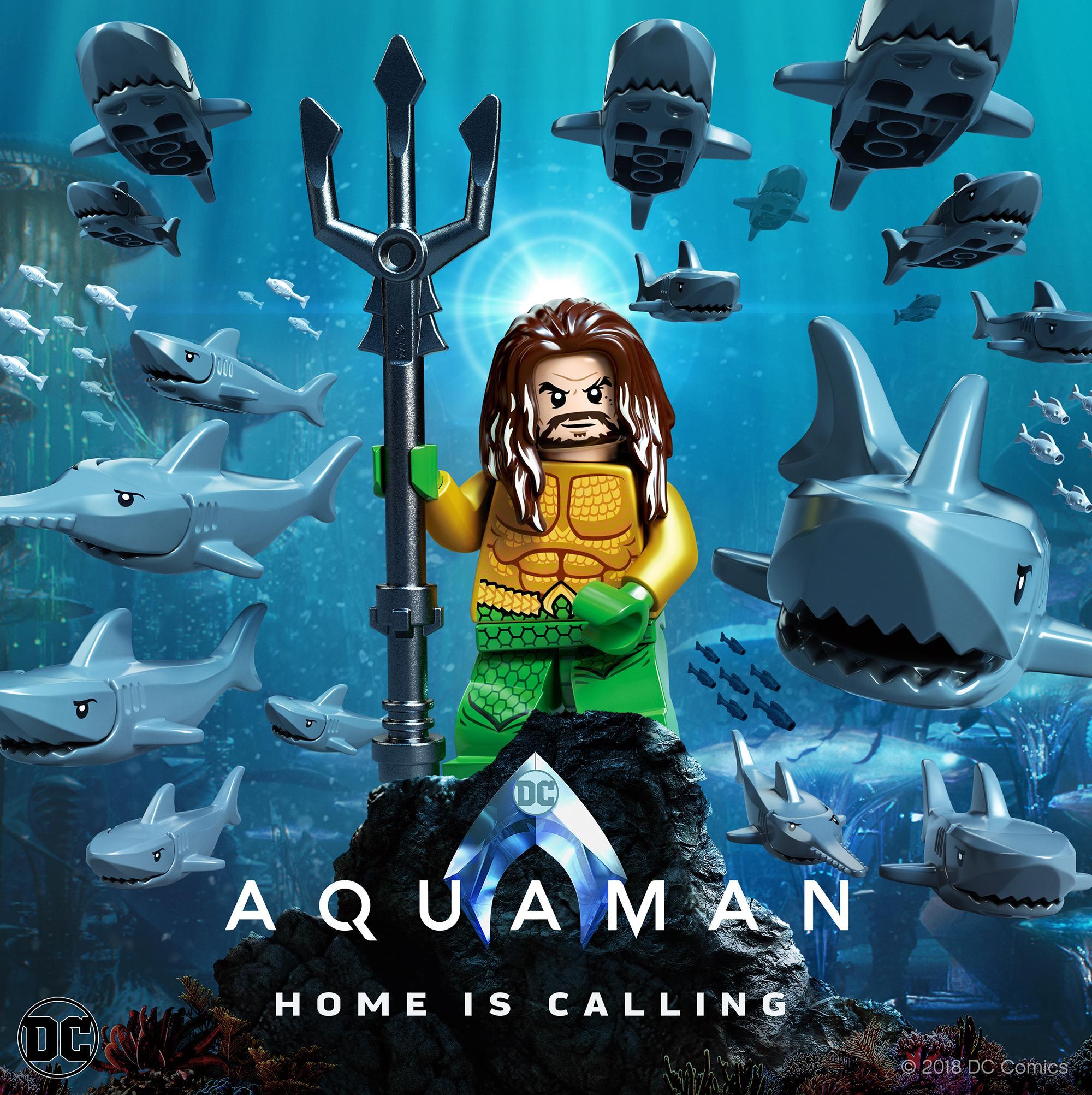 Aquaman Poster Gets A Lego Makeover Batman News
