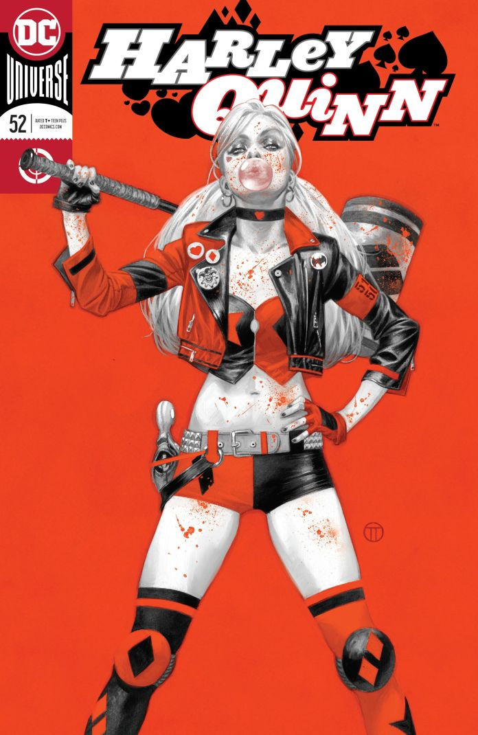 4e9b5cb91dc3 This issue of Harley Quinn concludes the two-part Triumph arc. For those  who came in late