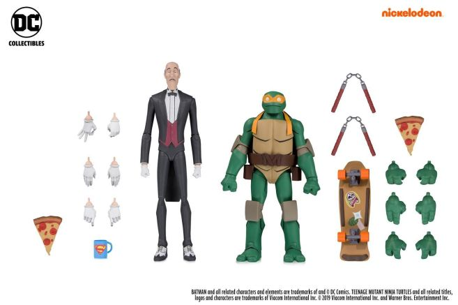 DC Collectibles - SDCC 2019 Exclusives - Batman vs TMNT - Alfred and Michelangelo - 01